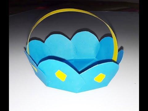 How to make a Paper Basket | Easy Handle Basket ideas | DIY Paper Basket