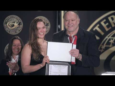 Ronda Rousey and her Mom Ann Maria DeMars Honored at the ISHOF