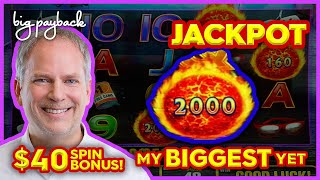 MY BIGGEST JACKPOT!! on Ultimate Fire Link Route 66 Slot - $40/SPIN BONUS!
