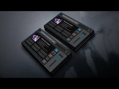 Amazing DJ Business Card Design - Photoshop CC Tutorial thumbnail