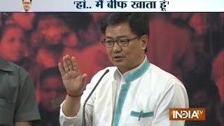 Kiren Rijiju Dares Anyone to Stop Him from Eating Beef - India TV
