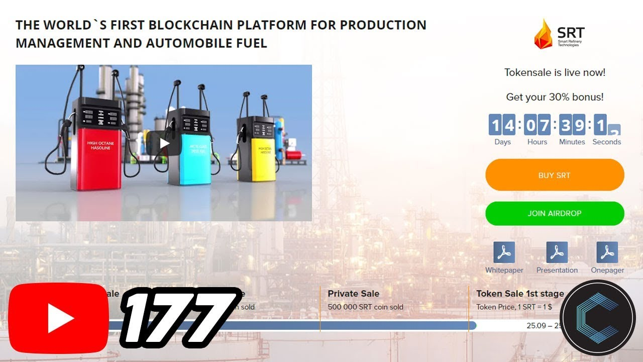 Oil & Gasoline on the Blockchain | SRT Coin | Smart Refinery Technology
