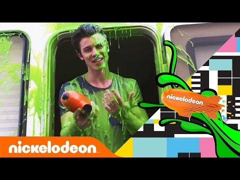 Shawn Mendes Gets SURPRISE SLIMED by Jace Norman❗| Kids' Choice Awards 2018 | Nick