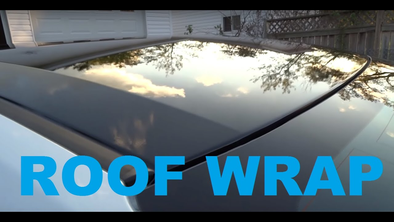 2016 Honda Civic Gloss Black Roof Wrap Youtube