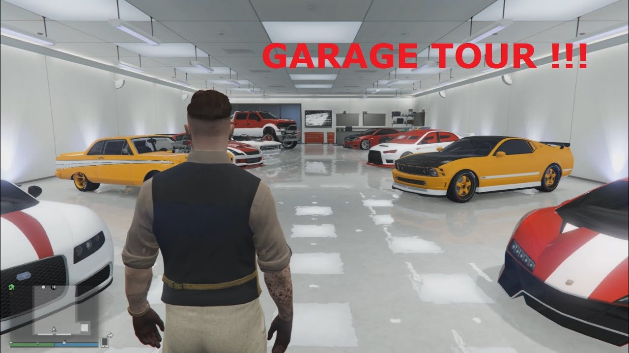 Grand theft auto 5 garage tour youtube for Garage auto tours