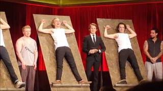 """The tickle game"" from I kveld med Ylvis Live"