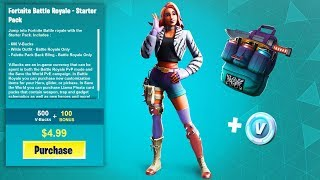 New Fortnite STARTER PACK - Free V bucks, Back bling and more