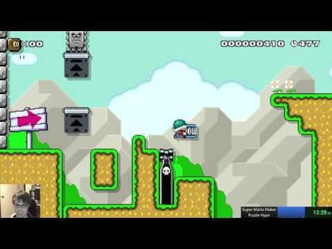 Super Mario Maker - Huge Epic Puzzle Level!