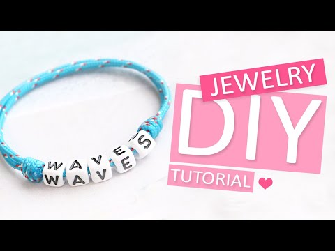 Sieraden maken: Verstelbare sieraden knoop met maritiem koord