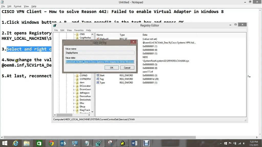 Cisco VPN Client Fix For Windows 8 And 10 (32-bit) download