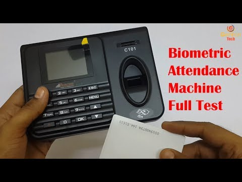 Realtime Eco C101 Biometric Attendance Machine with USB Excel Export   Full Testing with Rfid Card