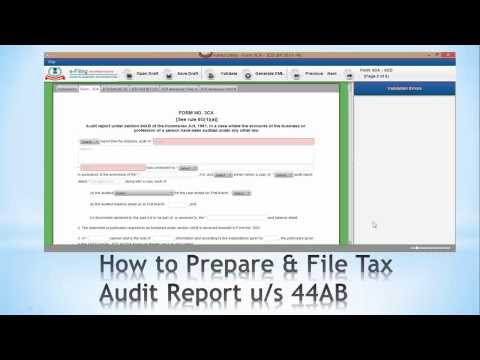 How to Prepare & File Tax Audit Report under Section 44AB Step -1 (India)