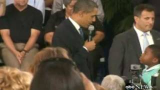 Little Boy Asks Obama Why Do People Hate You