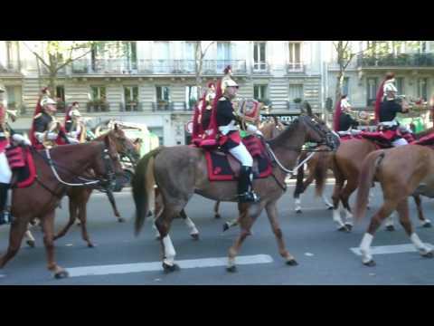 départ du régiment de cavalerie de la garde républicaine