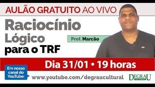Aulão de Raciocínio Lógico transmitido ao vivo com o professor Marc...