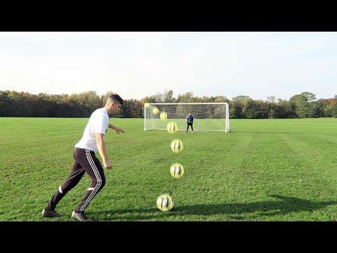 INCREDIBLE 4 WAY SHOOTING FOOTBALL CHALLENGE!!