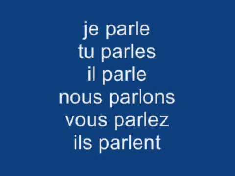 Le Verbe Parler Au Present מרכז תרבות צרפת חיפה 04 8312333 Youtube