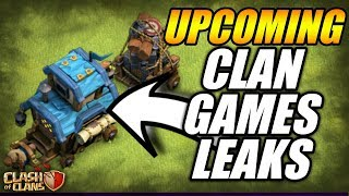 UPCOMING CLAN GAMES LEAKS + NEW EVENT LEAKS IN CLASH OF CLANS