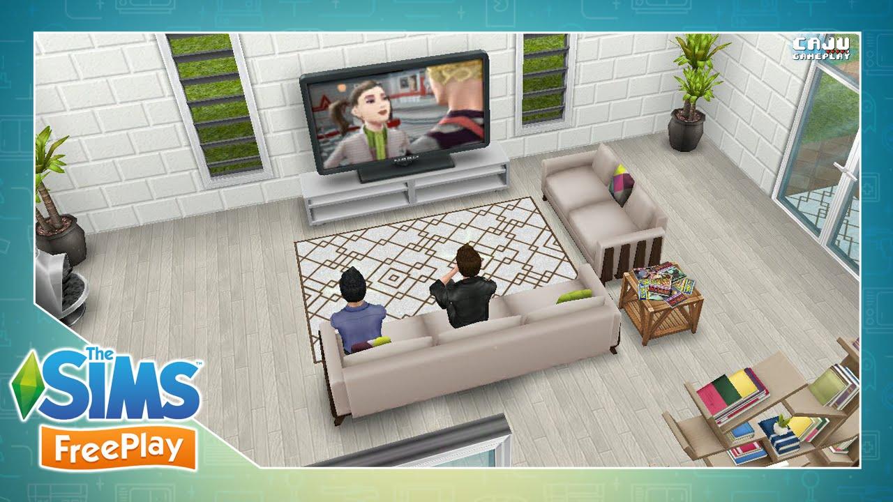 The sims freeplay decorando a sala de estar 63 veda 23 for Sala de estar the sims 4