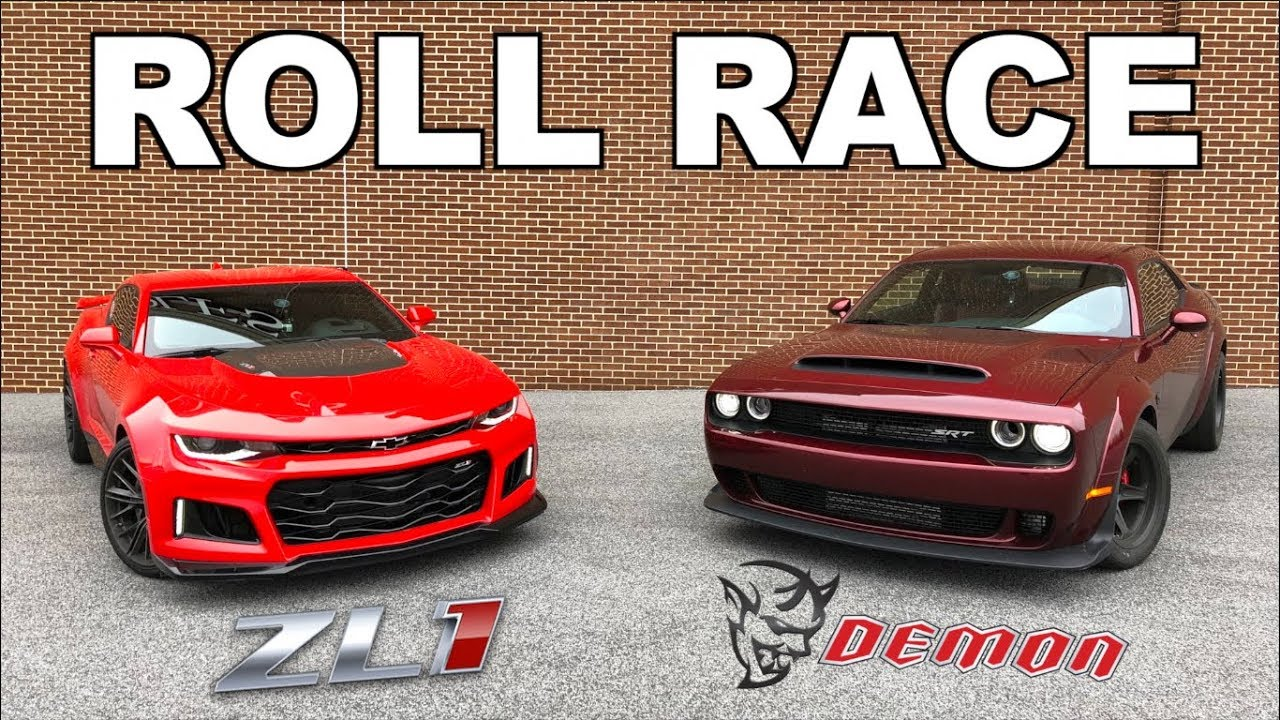 2018 Dodge Demon vs 2017 Camaro ZL1!!! - YouTube