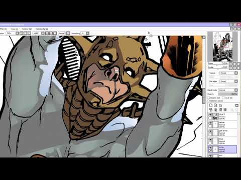 Speed Coloring Aztek The Ultimate Man (Kickstarter Backer Reward) | DC Comics Superhero time lapse