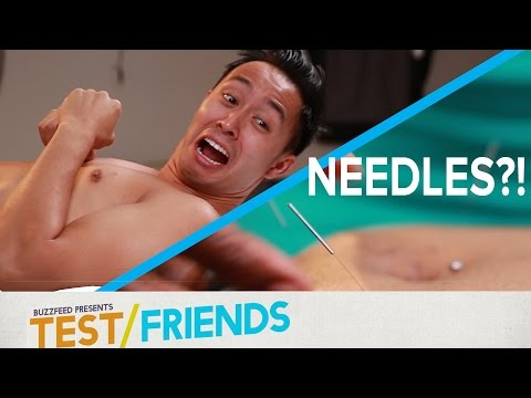 Thumbnail: People Try Acupuncture Therapy • The Test Friends