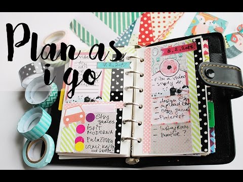 PLAN AS I GO - Planner decorating // No white space daily SPREAD