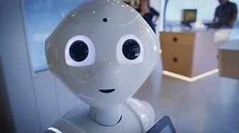 Pepper-robotti tuli Elisa Kulmaan