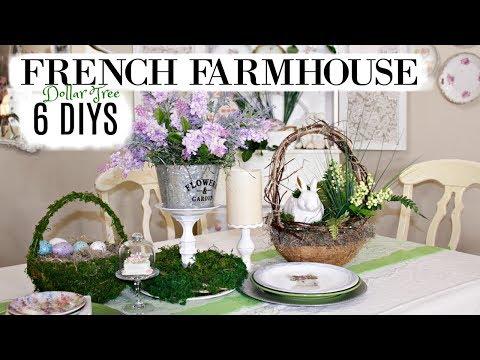 🍃 6 DIY SPRING EASTER FRENCH FARMHOUSE DOLLAR TREE DECOR CRAFTS 🍃 OLIVIAS ROMANTIC HOME DIY 2019