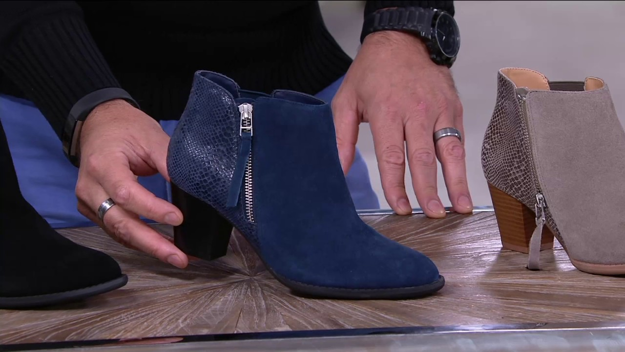 Vionic Orthotic Suede Ankle Boots - Anne on QVC