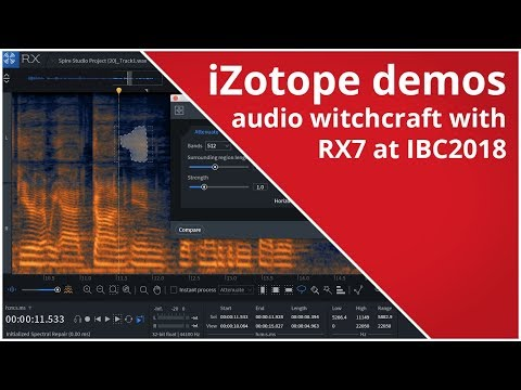 RedShark News - iZotope demos audio witchcraft and wizardry with RX7