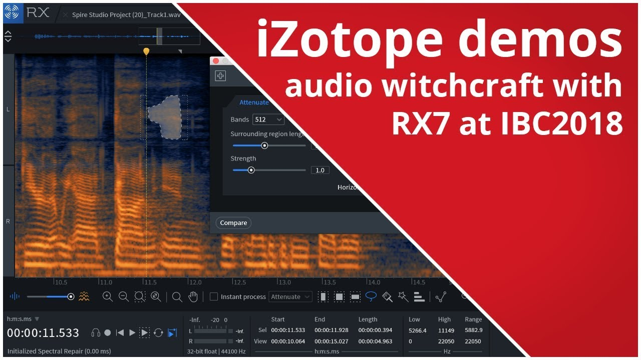 iZotope demos audio witchcraft with RX7 at IBC2018