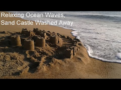 Ocean Waves and the Sand Castle, Relax, No Adverts HD, 30Min