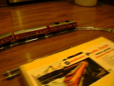 Vintage DAKIN Southern Pacific Battery Operated Tin Toy Train Set Japan on ebay
