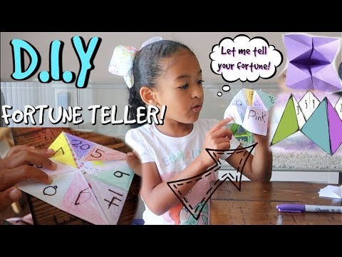 How To Make A Paper Fortune Teller!!!!!