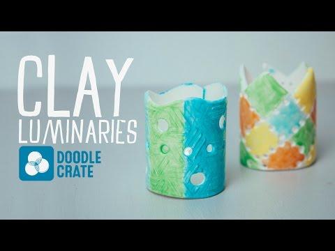 Make Textured Clay Luminaries