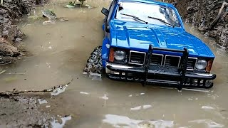 Rc Offroad WPL C24 adventure Enter mudding and water steadily