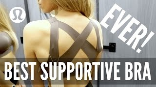 Lululemon Enlite Bra Try On & Review | MOST SUPPORTIVE SPORTS BRA