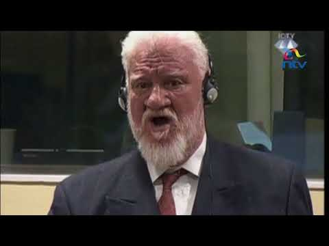 Bosnian croat war criminal takes poison to protest jail term