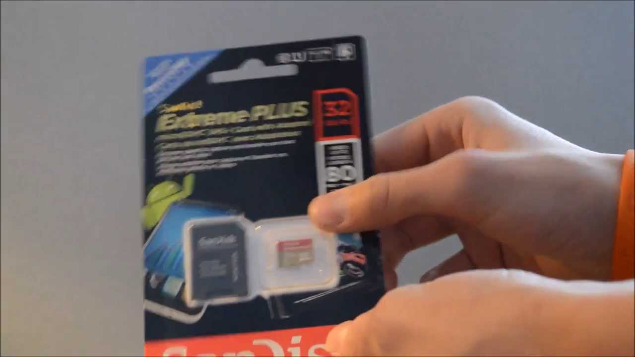 32 Gb Sandisk Extreme Plus Micro Sd For Gopro Unboxing Youtube Microsd 32gb
