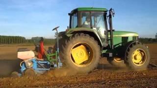 John Deere 6510 With Monosem Corn Seeder - Corn Planting 2011