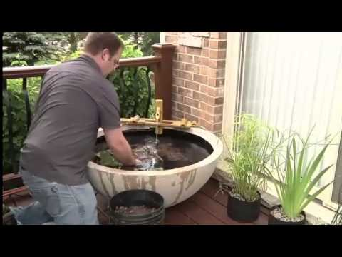 How to build a patio pond indoors or outdoors or on your for Balcony koi pond