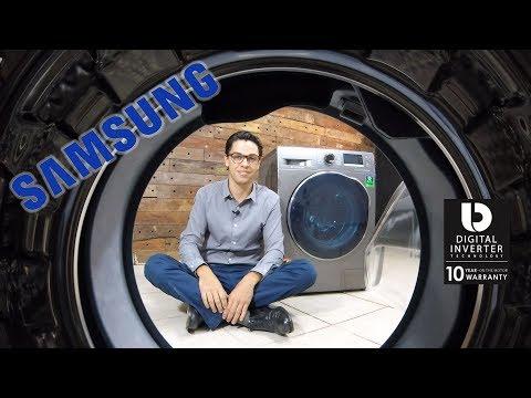 Lava E Seca Samsung 11kg Inox Look - Eco Bubble WD11j6410ax