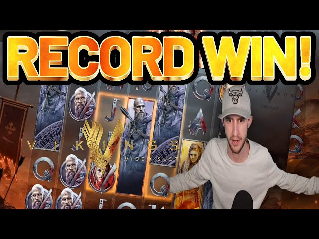 RECORD WIN!! VIKINGS BIG WIN from NetEnt - Online Slots from Casinodaddys live stream
