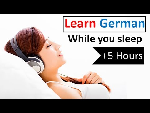 Learn German while you sleep ♫ 5 hours 👍 1000 Basic Words and Phrases