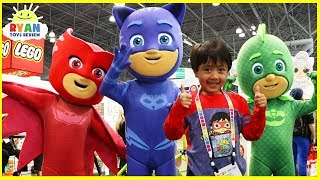 Ryan meets PJ Masks In Real Life with Hot Wheels, Paw Patrol, Thomas & Friends
