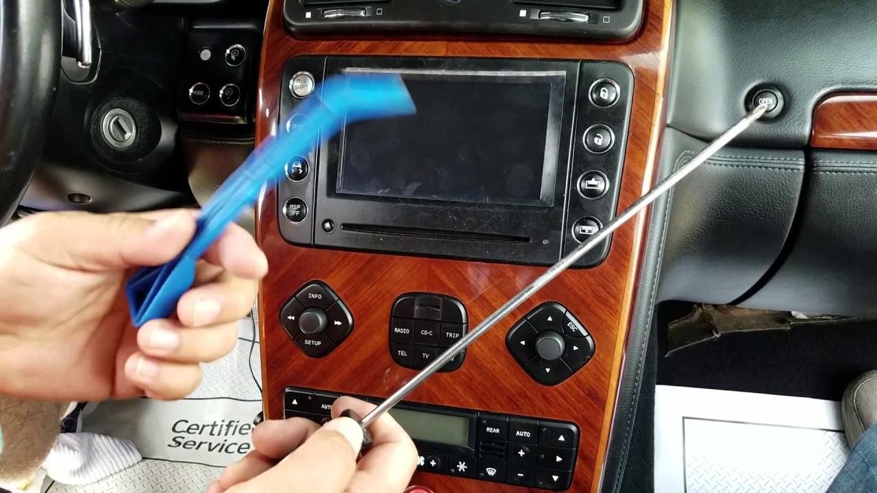 How To Remove Radio Navigation Display From Maserati