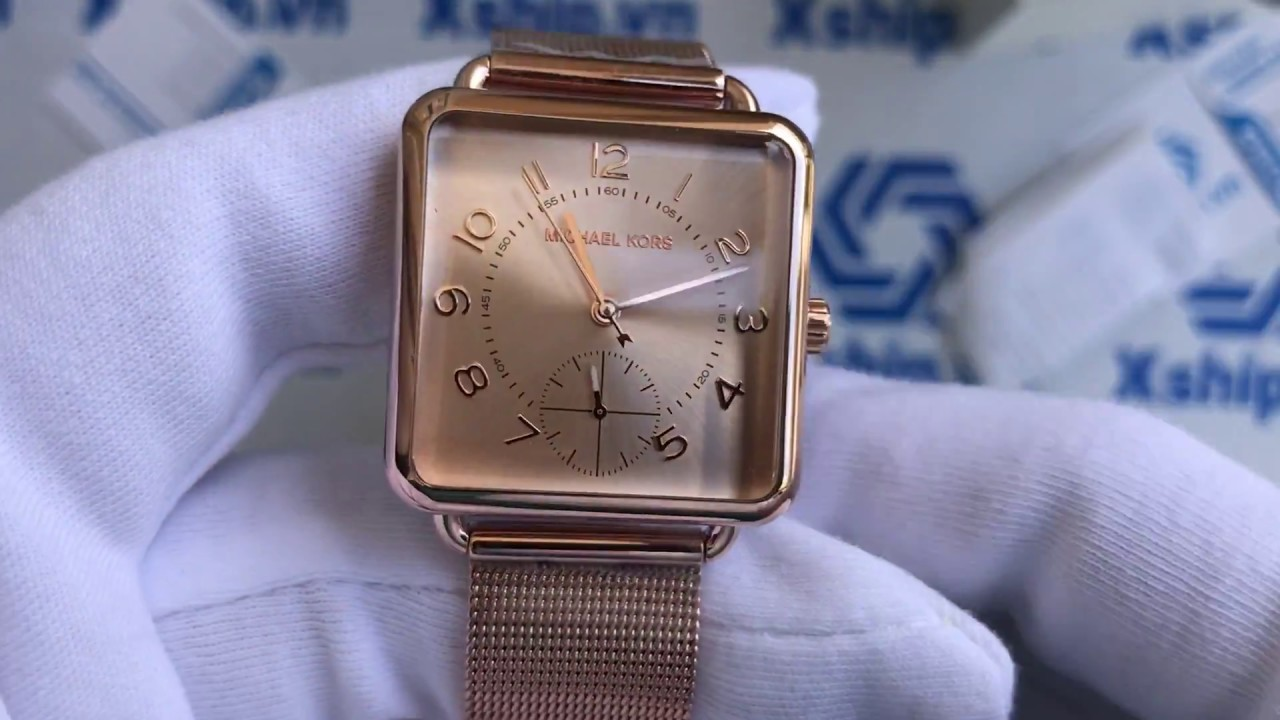 369e426be702 Xship.vn  Michael Kors MK3664 Brenner Rose Gold-Tone Three-Hand Watch