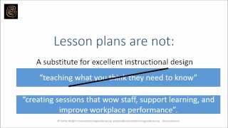 Lesson plan template for corporate trainers (sustainable training strategies)