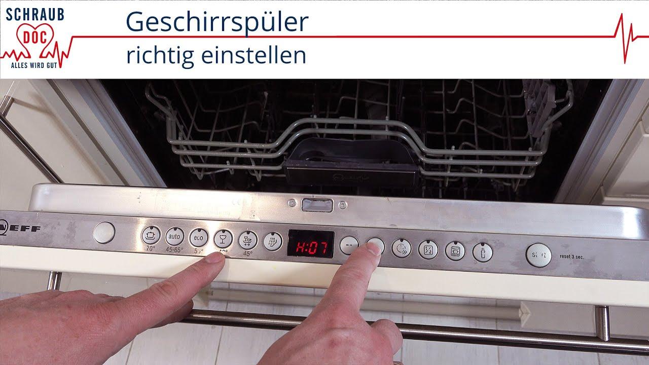 Super Spülmaschine einstellen: Von der Wasserhärte über den Klarspüler VG86